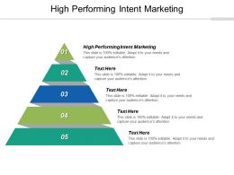 High Performing Intent Marketing Ppt Powerpoint Presentation Summary Picture Cpb