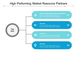 High Performing Market Resource Partners Ppt Powerpoint Presentation Model Templates Cpb