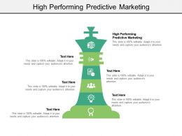 High Performing Predictive Marketing Ppt Powerpoint Presentation Infographics Templates Cpb