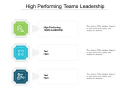 High Performing Teams Leadership Ppt Powerpoint Professional Grid Cpb