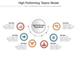 High Performing Teams Model Ppt Powerpoint Presentation Summary Model Cpb