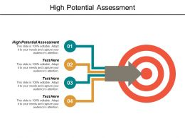 High Potential Assessment Ppt Powerpoint Presentation File Picture Cpb