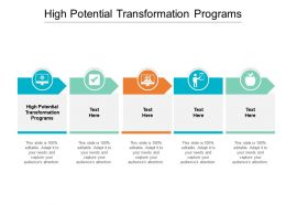 High Potential Transformation Programs Ppt Powerpoint Presentation Gallery Styles Cpb