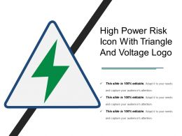 High Power Risk Icon With Triangle And Voltage Logo