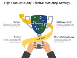 High Product Quality Effective Marketing Strategy Emerging Markets
