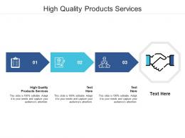 High Quality Products Services Ppt Powerpoint Presentation Infographics Portfolio Cpb