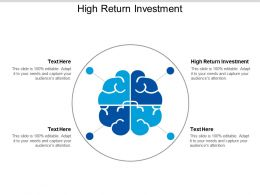 High Return Investment Ppt Powerpoint Presentation Ideas Tips Cpb