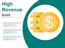 High Revenue Icon Powerpoint Slide Themes