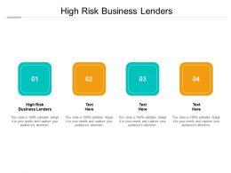 High Risk Business Lenders Ppt Powerpoint Presentation Show Smartart Cpb