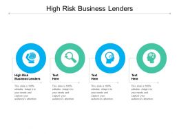 High Risk Business Lenders Ppt Powerpoint Presentation Show Templates Cpb