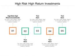 High Risk High Return Investments Ppt Powerpoint Presentation Icon Infographics Cpb
