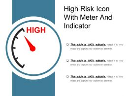 High Risk Icon With Meter And Indicator