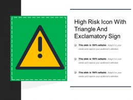 High Risk Icon With Triangle And Exclamatory Sign