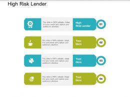 High Risk Lender Ppt Powerpoint Presentation Gallery Design Inspiration Cpb