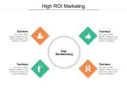 High ROI Marketing Ppt Powerpoint Presentation Styles Outfit Cpb