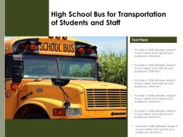 High School Bus For Transportation Of Students And Staff