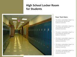 High School Locker Room For Students