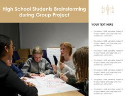 High School Students Brainstorming During Group Project