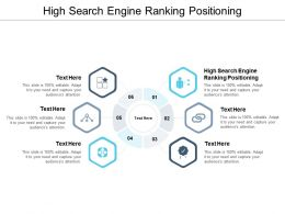 High Search Engine Ranking Positioning Ppt Powerpoint Presentation Infographic Template Good Cpb