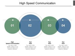 High Speed Communication Ppt Powerpoint Presentation Gallery Graphic Images Cpb
