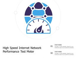 High Speed Internet Network Performance Test Meter