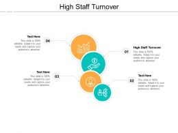 High Staff Turnover Ppt Powerpoint Presentation Professional Slides Cpb