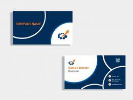High Tech Company Business Card Design Template