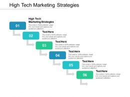 High Tech Marketing Strategies Ppt Powerpoint Presentation Gallery Good Cpb