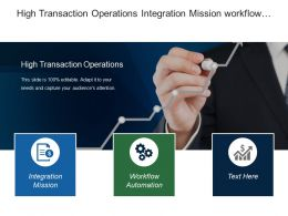 High Transaction Operations Integration Mission Workflow Automation Tools