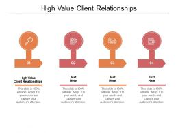 High Value Client Relationships Ppt Powerpoint Presentation Inspiration Portfolio Cpb