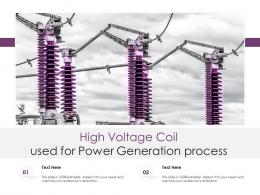 High Voltage Coil Used For Power Generation Process