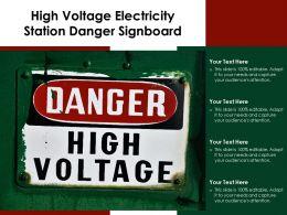 High Voltage Electricity Station Danger Signboard