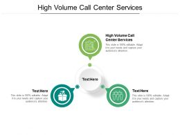 High Volume Call Center Services Ppt Powerpoint Presentation Summary Aids Cpb
