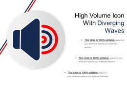 High Volume Icon With Diverging Waves