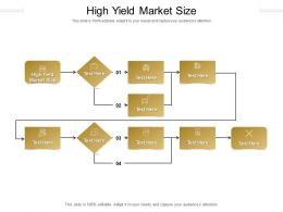 High Yield Market Size Ppt Powerpoint Presentation Gallery Inspiration Cpb
