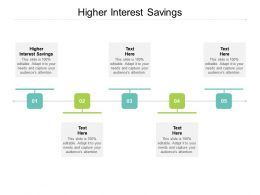 Higher Interest Savings Ppt Powerpoint Presentation Ideas Picture Cpb