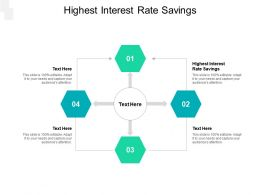 Highest Interest Rate Savings Ppt Powerpoint Presentation Graphic Images Cpb