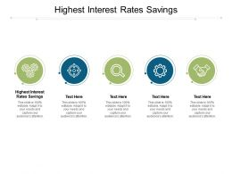 Highest Interest Rates Savings Ppt Infographics Infographic Template Cpb