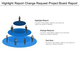 Highlight Report Change Request Project Board Report Revenue Growth