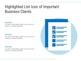 Highlighted List Icon Of Important Business Clients