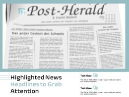 Highlighted News Headlines To Grab Attention