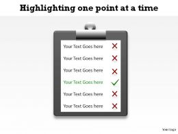 highlighting one point at a time using checklist ppt slides diagrams templates powerpoint info graphics