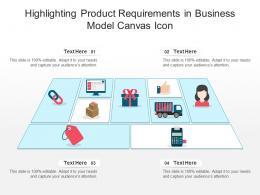 Highlighting Product Requirements In Business Model Canvas Icon