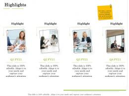 Highlights Administration Management Ppt Themes