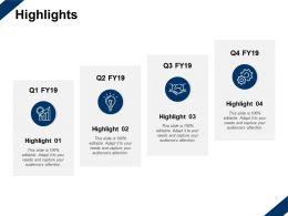 Highlights Growth Gear Ppt Powerpoint Presentation Slides Picture
