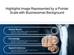 Highlights Image Represented By A Pointer Scale With Businessman Background