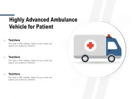 Highly Advanced Ambulance Vehicle For Patient