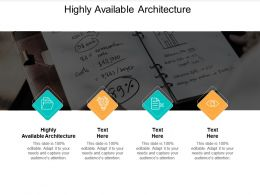 Highly Available Architecture Ppt Powerpoint Presentation Summary Master Slide Cpb