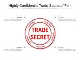 Highly Confidential Trade Secret Of Firm
