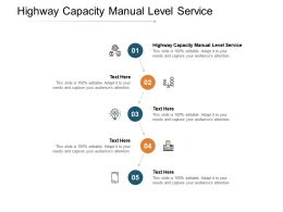 Highway Capacity Manual Level Service Ppt Powerpoint Presentation Layouts Cpb